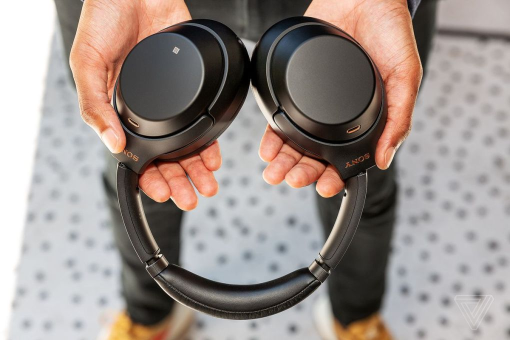 A photo of the Sony WH-1000XM3 headphones, the best noise-canceling headphones for most people.