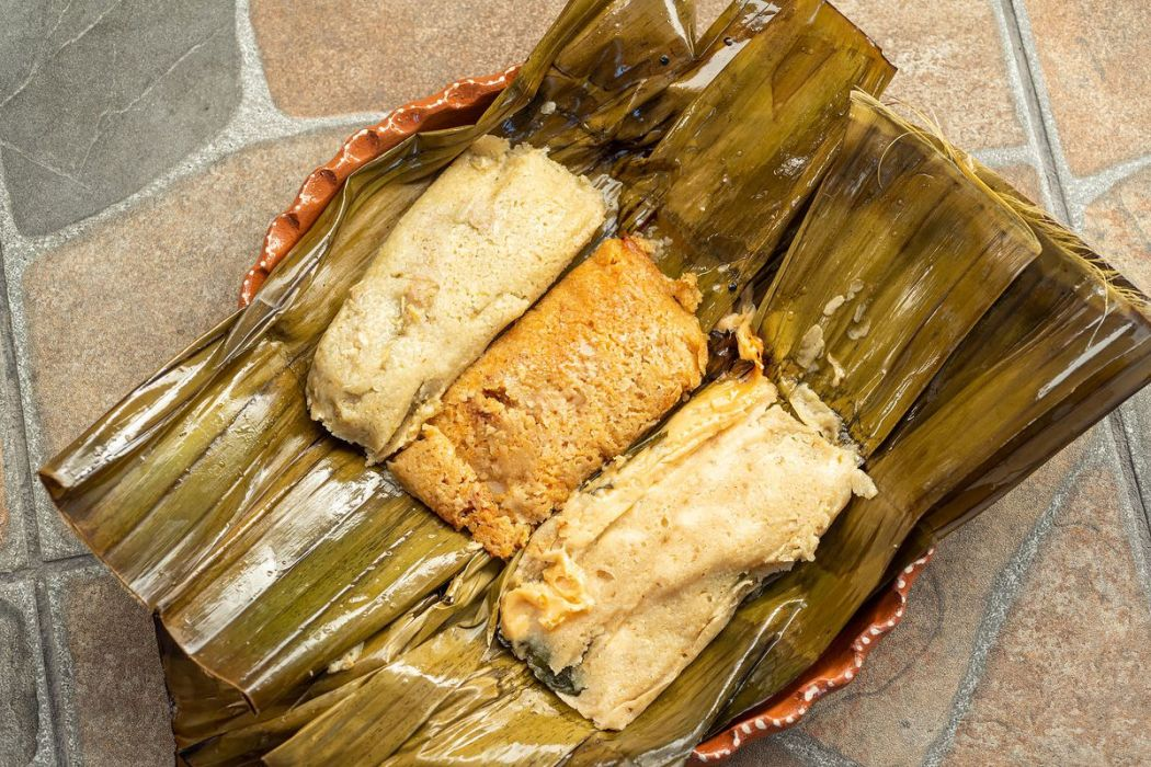 Banana leaf tamales from Tamales Elena
