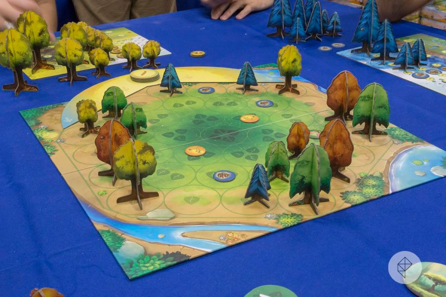 The best board games of 2017  as chosen by the Board Game Geek     Green  yellow  brown and blue trees made of cardboard spring up around a  brightly