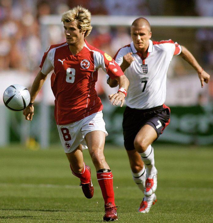 England midfielder and captain David B