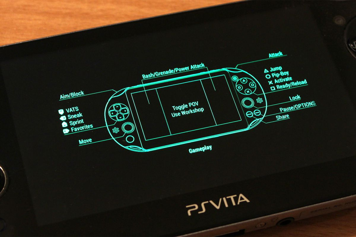 Fallout 4 S Control Scheme For Playstation Vita Is Pretty