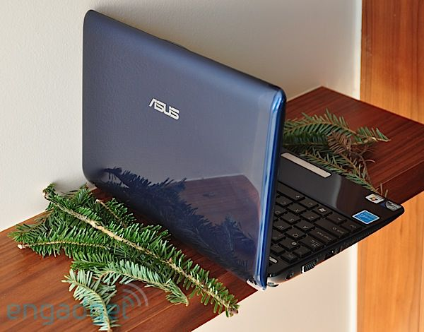 A blue Eee PC