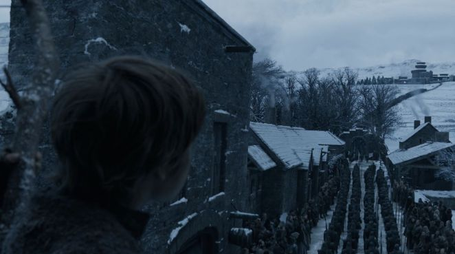 Game of Thrones S08E01 The great northern procession