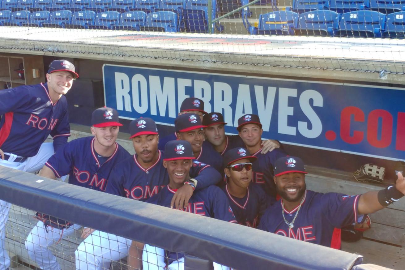Atlanta Braves prospects having fun in Rome.