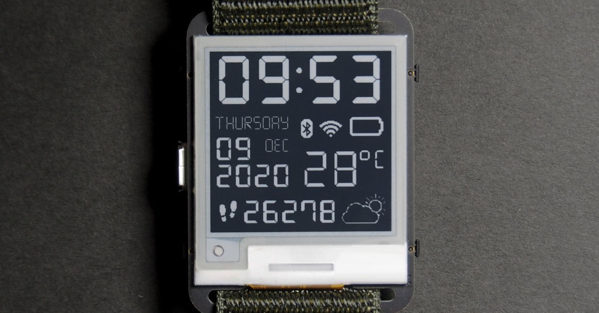 Hack together your own e-paper smartwatch with this  open-source kit