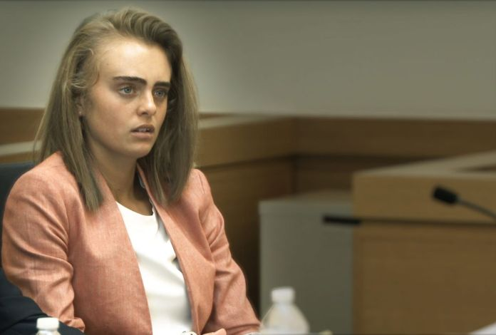 michelle carter sits in court