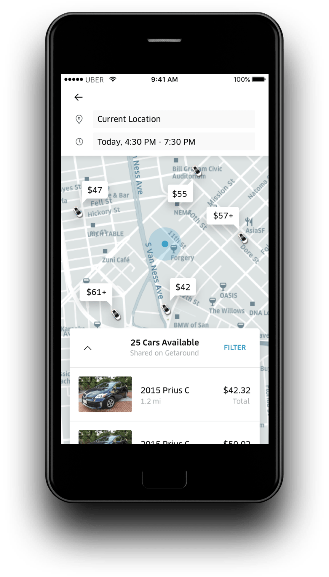 Uber Rent will only be available in San Francisco to start out, but if all  goes well, it could eventually find its way into other cities served by  Getaround ...