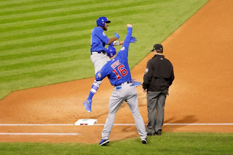 Image result for Dexter Fowler lead off homer world series