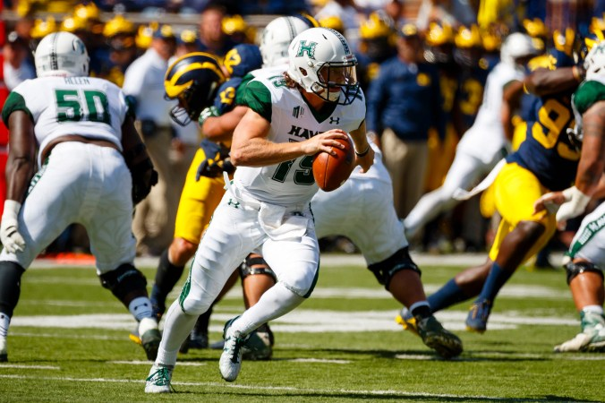 Image result for Hawai'i Rainbow Warriors vs. San Jose State Spartans