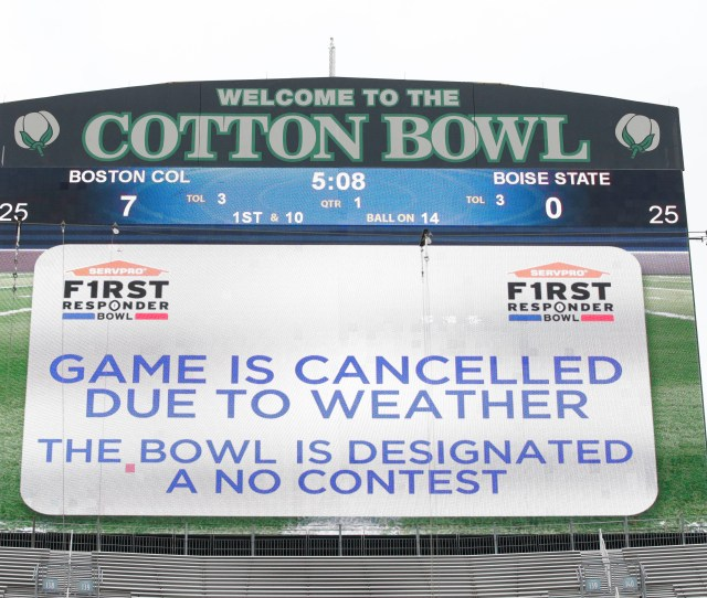 Faqs On The Canceled First Responder Bowl A Major Cfb Rarity
