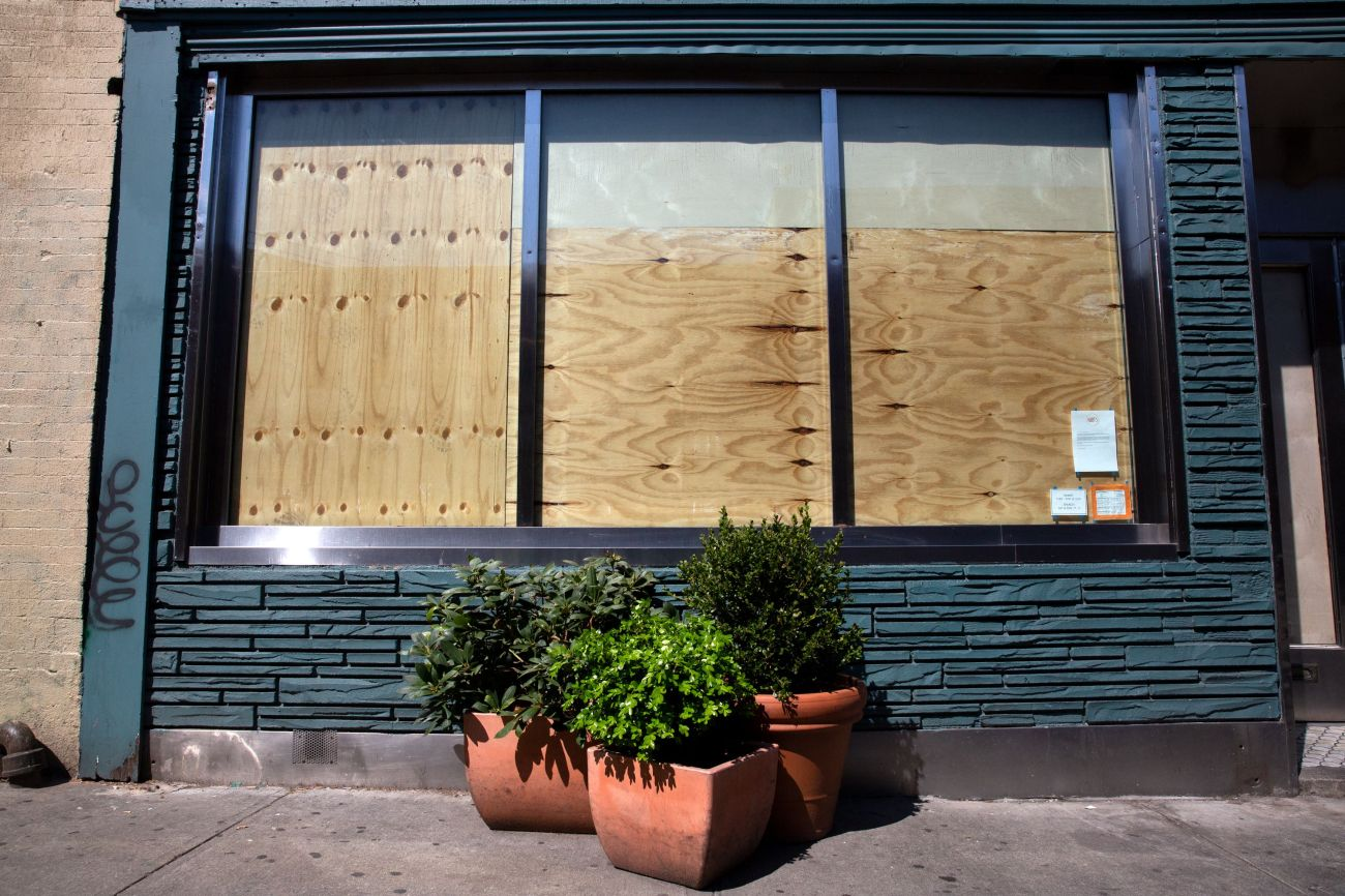A shuttered restaurant in Bed-Stuy, Brooklyn, May 4, 2020.