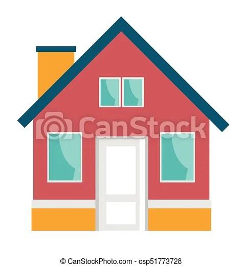 Petite Maison Vecteur Dessin Anime Illustration Maison Isole Illustration Arriere Plan Vecteur Residentiel Petit Canstock