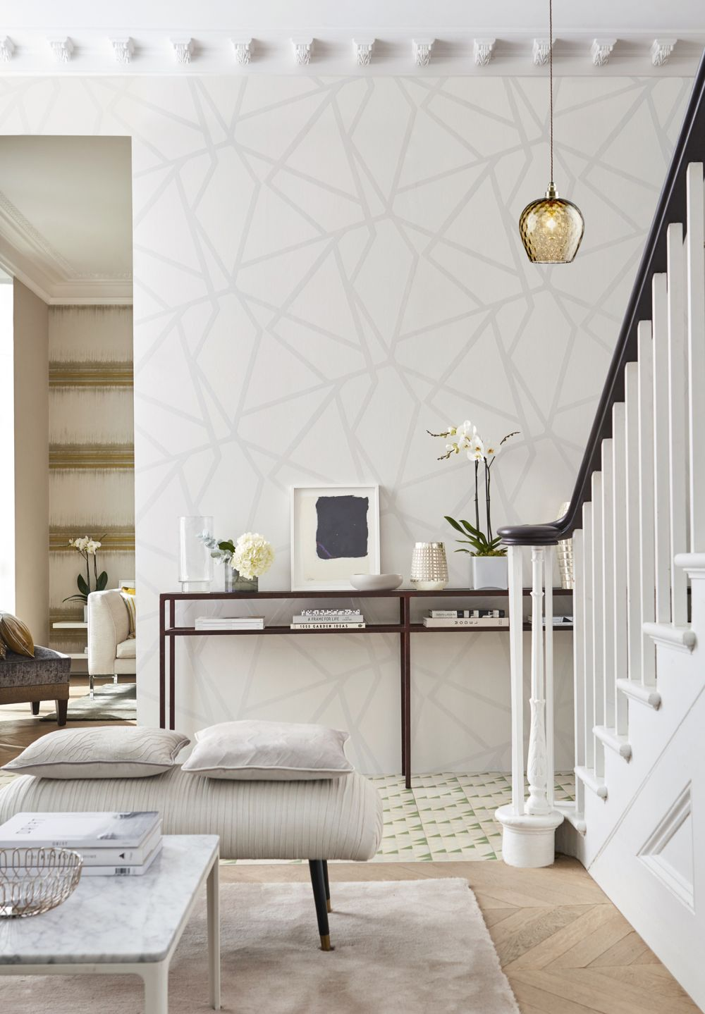 Sumi Beaded By Harlequin Silver Wallpaper Direct