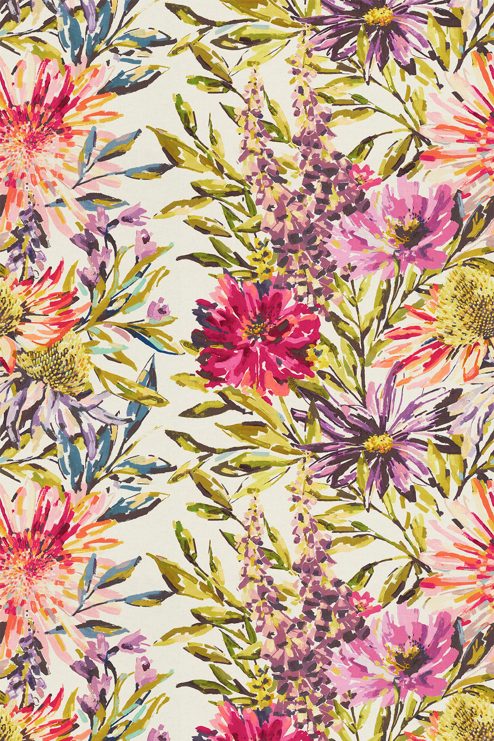 Floreale By Harlequin Fuchsia Heather Amp Lime Fabric