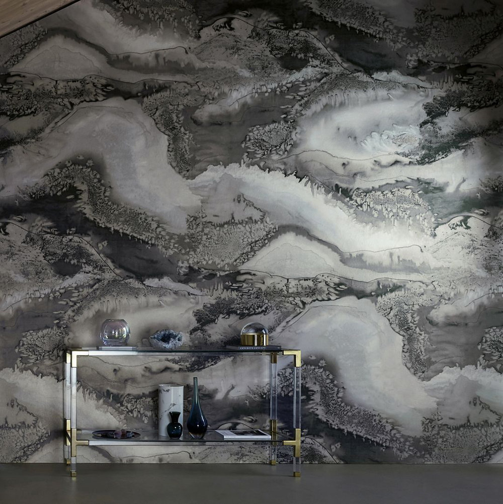 Obsidian By Anthology Snowflake Wallpaper Direct