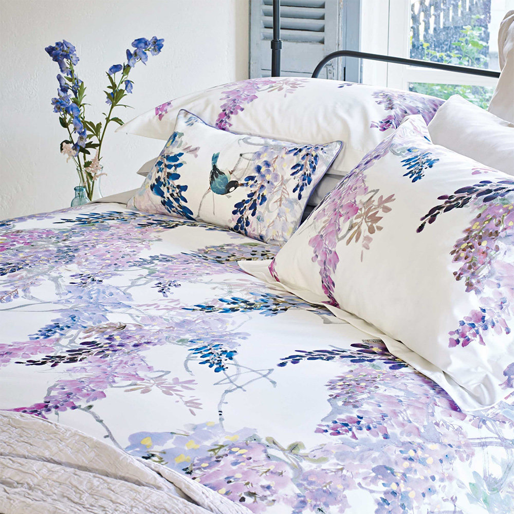 Wisteria Falls King Size Duvet By Sanderson Wallpaper Direct