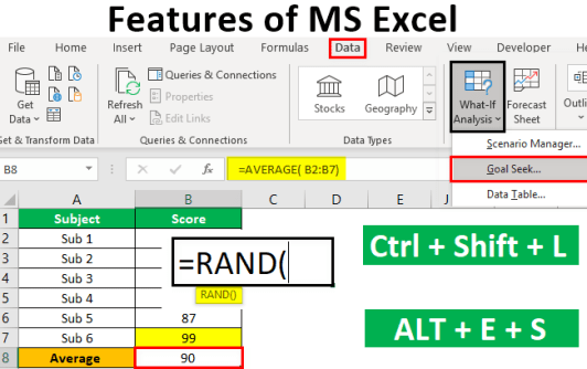 Features of MS Excel Top 9 Features of Microsoft Excel with Examples