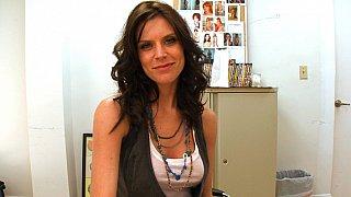 Cute Violet Raye interviewed by BangBros thumb