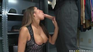 Amazing pornstar Kayla Carrera sucks Mick's huge cock thumb