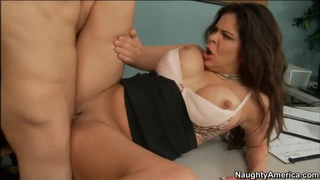 Horny Bruce Venture getting his huge hard pole sucked by cute babe thumb