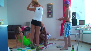 Ally & Margo & Ivana Sugar & Milia in college orgy with a lot of hardcore fucking thumb