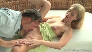 MOM MILF gets fucked in the fresh air thumb