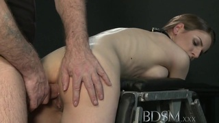 BDSM XXX Big breasted sub gets hard anal thumb