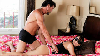 Step Dad sneaking_on step daughter via_massage thumb