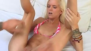Halle wet pussy got pounded at the pool and living room thumb