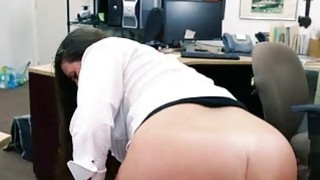 Big butt babe pawns her pussy and nailed thumb