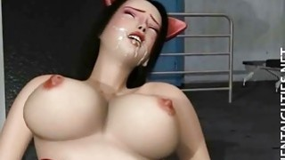 3D anime babe in stockings gets nailed thumb
