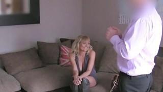 Busty blonde British Milf banged on casting thumb