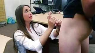 Big booty babe screwed in the backroom thumb