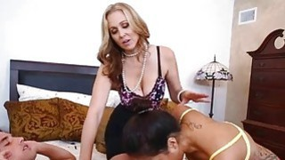 Julia Ann and Abby Lee Brazil hot trio in the bedroom thumb