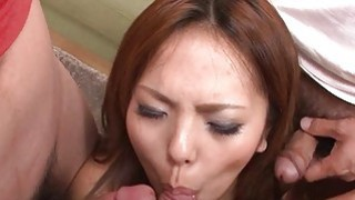 Asian chick with_boobs toys her wanton cookie thumb