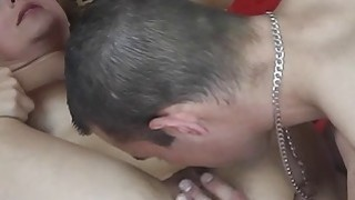 Hot MILF Misa gets licking and fingering from horny stranger thumb