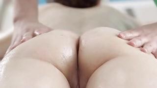 Sensual oil massage makes gal give moist blowjob thumb