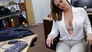 Foxy business woman nailed by pawn man at the pawnshop thumb