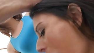 Nikki Daniels enjoying threesome sex with Kiera Winters thumb
