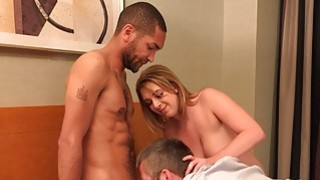 Hot Blonde Wife and Husband Share a Tasty Black Co thumb