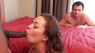 Wife Enjoys The Black Cock While Husband Watches a thumb