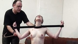 Tied slave Honesty Cabellero whipped and hot wax thumb