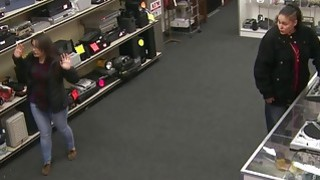 Two Bitches At The Pawnshop Try To Steal Something thumb