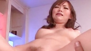 Buruma Aoi pumps her pussy with a big dick thumb