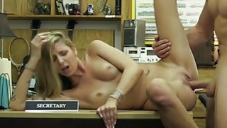 Horny blonde babe sucking it hard for_wet pussy thumb
