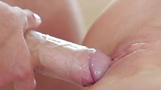 Darling is riding on studs cock to joy her cookie thumb