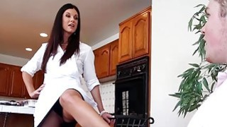 Lucky guy having phone sex with his GFs stepmom India Summer thumb
