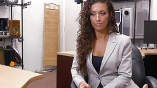 Sexy tattooed woman railed by pawn guy in his pawnshop thumb