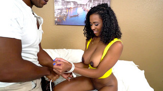 Ivy Young gets ner nipples sucked and lets him tie up her arms thumb