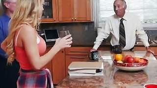 Hot teen Molly gets seduced by old guy who easily locates her g spot thumb